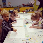 Cuties coloring in the Pint Sized Picasso Class! Dont theyhellip