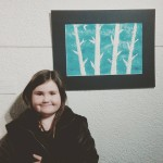 Lilly one of our talented students with her artwork forhellip