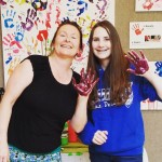 smART Kids Art Mentor Vicki and her granddaughter were thehellip