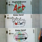 Yay!!! Today the Art Center received some new magnetic signagehellip