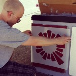 Local artist Zach Meyer is putting the finishing touches onhellip