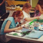 Our 4th8th grade painting class has been busy creating masterpieceshellip