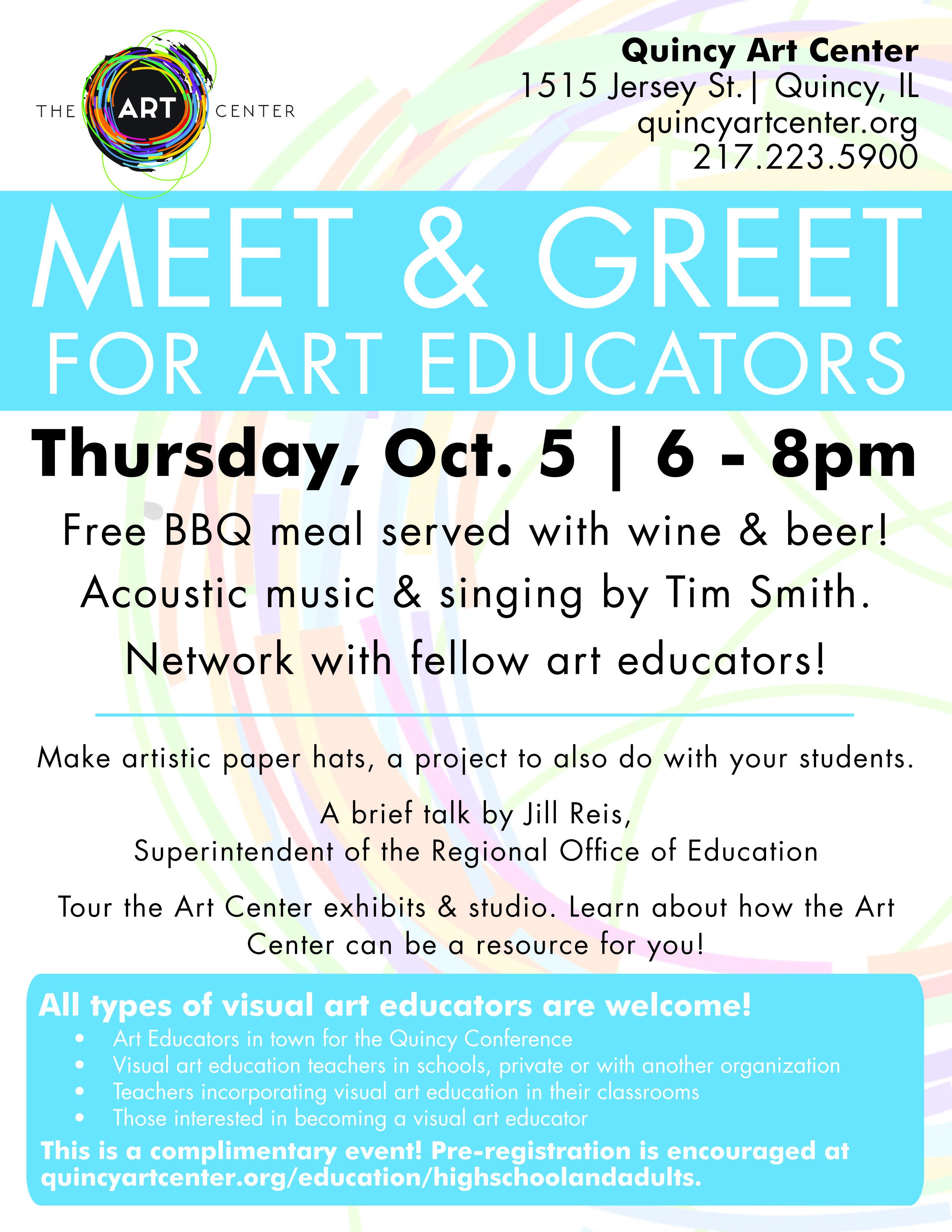 Meet Greet For Art Educators Quincy Art Center