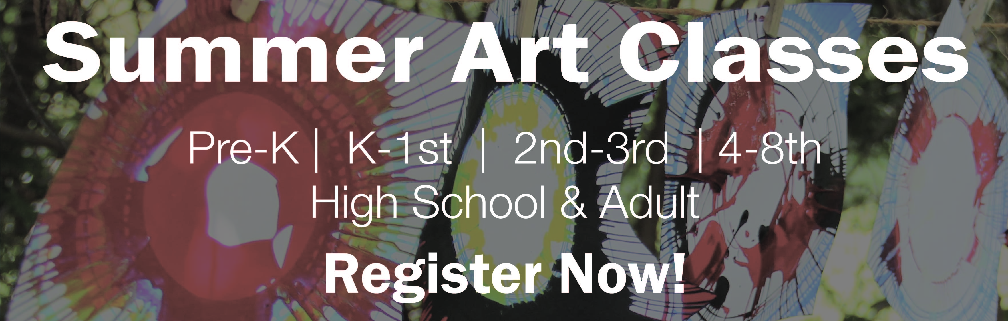summer art camp website banner
