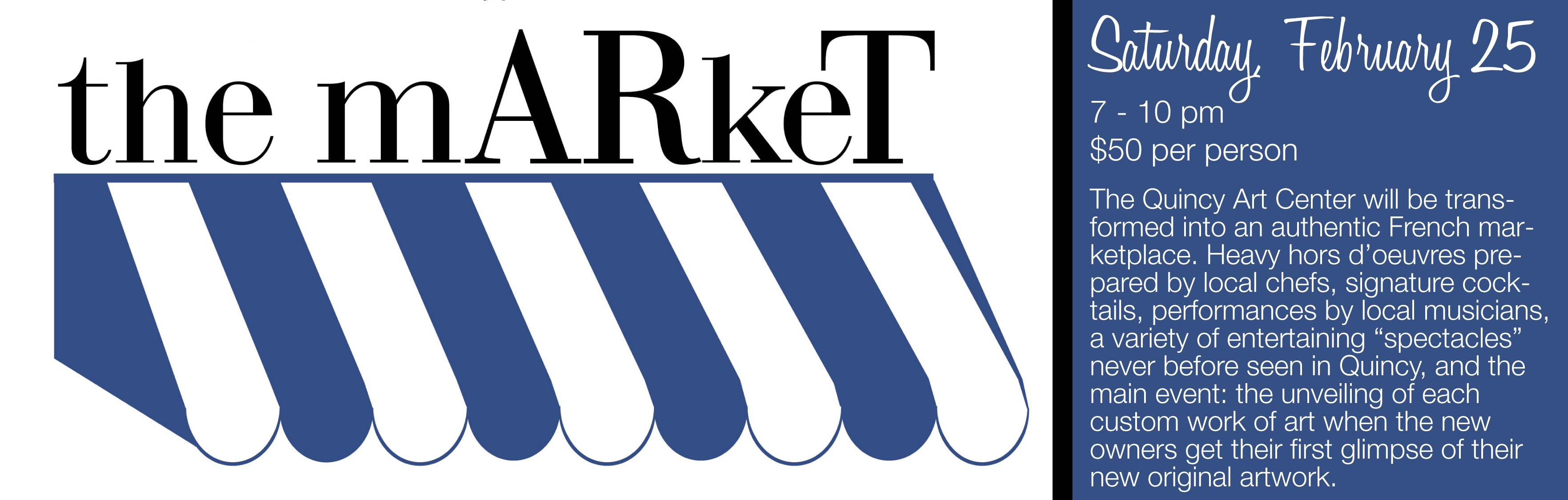 the mARket website header